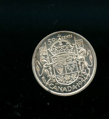 1954 Canada Silver 50 Cents MS63 or better GEM  A706