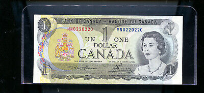 Scarce 1973 Bank of Canada $1 2 Digit Radar UNC   BL45