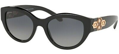 Bulgari Bvlgari 8221B 8221/B 53 501/T3 Black Sunglasses Grey Gradient Lenses
