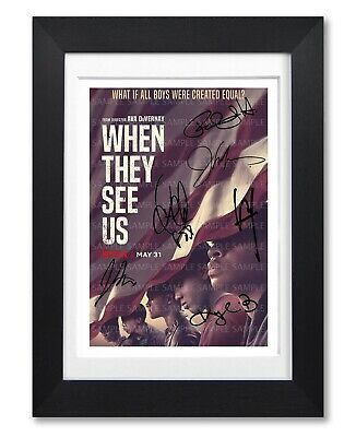 When They See Us Cast Signed Poster Print Tv Season Photo Autograph Gift Netflix