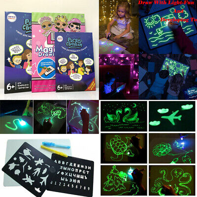 Draw with Light Fun and Developing Toy Fluorescent Magic Light Drawing Board Toy
