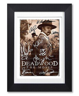 Deadwood The Movie Cast Signed Poster Tv Show Print Photo Autograph Gift Netflix