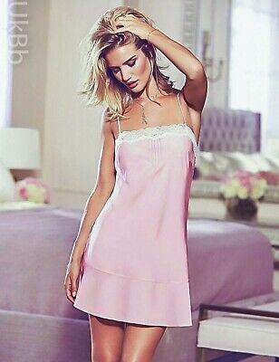Rosie Autograph Chemise Nightie M/&S Ivory Pink Floral Chiffon Lace Trimmed 8 10