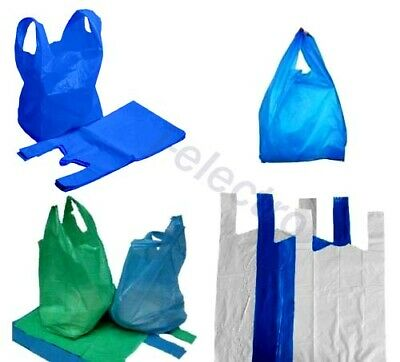 2019 Strong Plastic Carrier Bags Vest Shopping Supermarket Shop & Takeaway