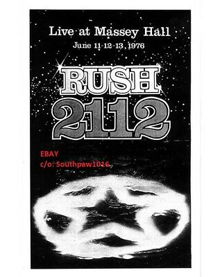 1976 Rush 2112 Tour at Massey Hall in Toronto, ON Concert  Print Advert
