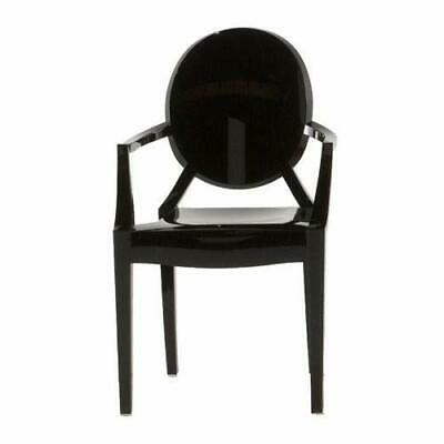 Kartell Loulou Ghost Silla, Negro Oscur(Negro Oscuro)