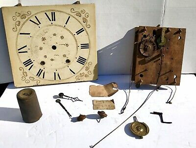 ANTIQUE 8 DAY Weight Driven Clock Strap Movement - Parts/Repair