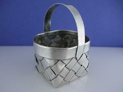 Wonderful Sterling CARTIER hand made woven BASKET ~no mono