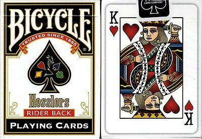 Hesslers Rider Back Red Bicycle Playing Cards Poker Size Deck Custom Limited New