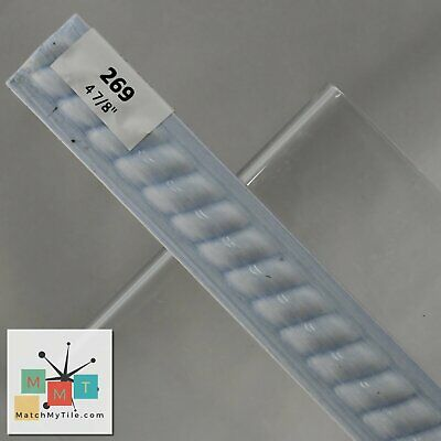 MMT-269 Vintage Ceramic Tile Light Blue Glossy White Ripple