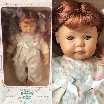 "8"" Original Heide Ott Red Hair Girl ""Little Ones"" Mib, Switzerland"