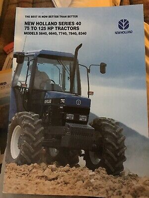 Ford New Holland Series 40 5640 6640 7740 7840 8240 8340 tractor brochure