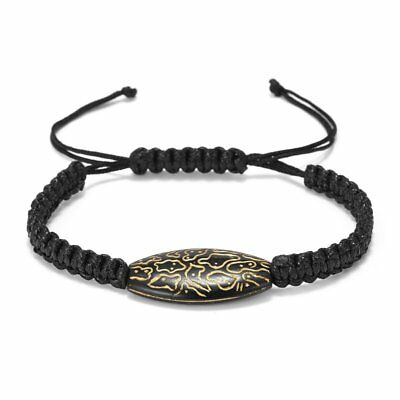 Charm Handmade Crystal Bead Braided Bracelet Black Lucky String Women Men Gift