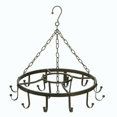Circular Pot Hanger For All Pots And Pans Wrought Iron Ceiling Hooks Kitchen