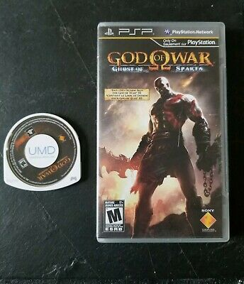 God of War: Ghost of Sparta & Chains of Olympus (Sony PSP) cib Tested and Works