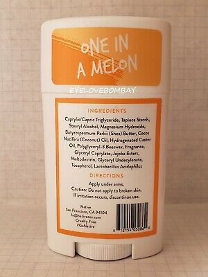 1 Native TEEN GIRL deodorant ONE IN A MELON natural ALUMINUM FREE gentle