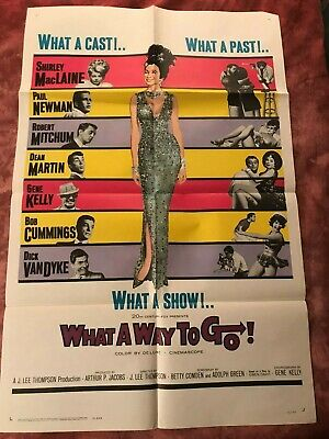 Shirley Maclaine WHAT A WAY TO GO 1964 Original FF 1 Sheet Movie Poster 27 x 41
