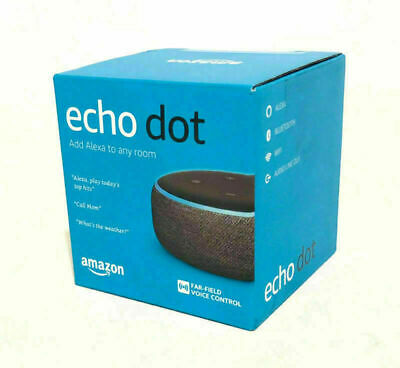 New Amazon Echo Dot 3rd Generation w/ Alexa Voice Media Device - Charcoal