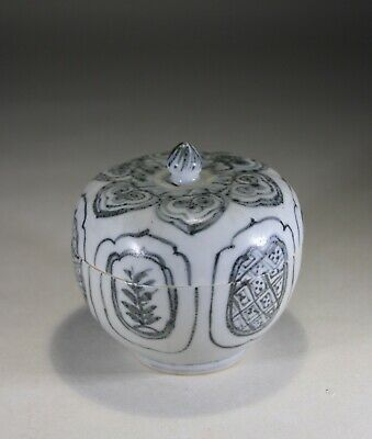 Antique Chinese Blue & White Box & Cover Ming Dynasty - Signed