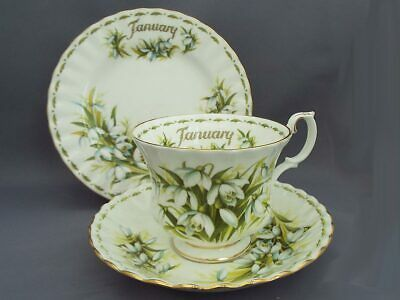 """Royal Albert """"January"""" Flower of the Month Trio"""