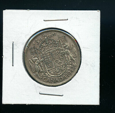Key Date 1947 Maple Leaf Canada 50 cents A741