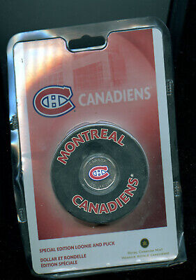 Rare 2008 Canada Special Edition Montreal Canadiens Loonie and Puck Sealed BL45