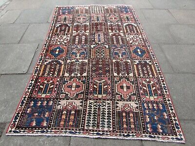 Shabby Chic Traditional Hand Made Persian Oriental Brown Wool Rug 263x157cm