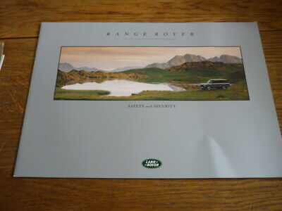 Range Rover Safety And Security Brochure