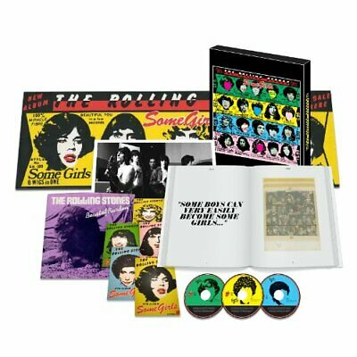 ROLLING STONES SHM-2CD+DVD+7+Book BOX Some Girls Super DX Edition From japan