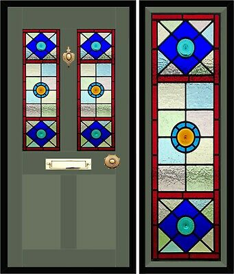 Victorian design Traditional Stained Glass Door Panels, made to measure