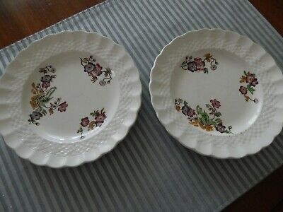 2 6.5 inch bread and butter plates Copeland Spode Wicker Lane preowned gc