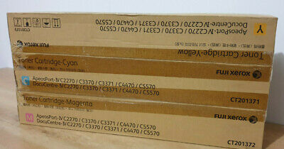 Genuine Fuji Xerox CMY Toner Set CT201371 CT201372 CT201373 - 15K Pages Yield