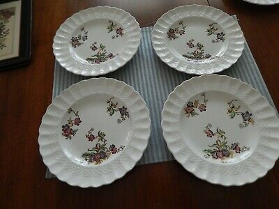 set of 4    7 3/4  inch salad plates  Copeland Spode Wicker Lane preowned gc