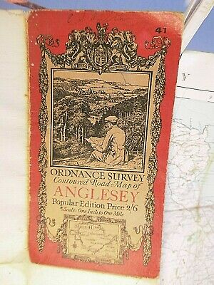 Anglesey- 1922-27- Famous Ellis Martin Picture Covered Ordnance Map:92 Years Old