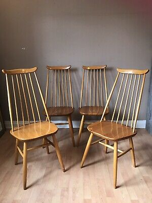 Set of 4 Mid Century Chairs Dining Kitchen Retro Vintage Project To Sand / Paint