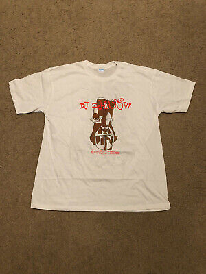 deadstock 90s DJ SHADOW Mowax phil frost vtg rap hip hop T-shirt GILDAN reprint