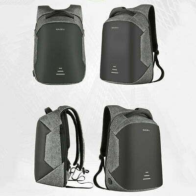 Anti Theft Laptop Backpack Business Bag Computer Water Resistant Case Grey 1PC