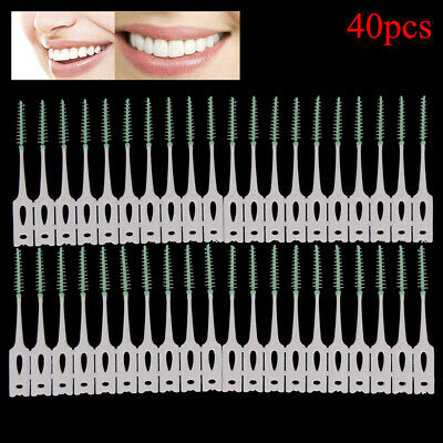 40pcs/2box pro dental oral care interdental brush floss toothpick clean toothLTA