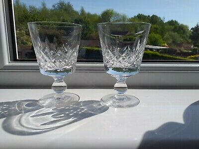 Pair of Stuart Crystal Hand Blown GLENGARRY Claret Glasses-Acid Etch Mark