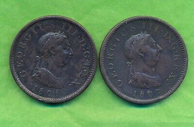 George 111 Penny 1806 And 1807