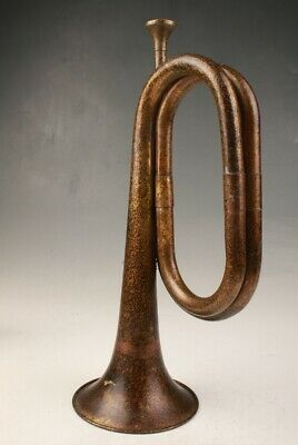 Unique Chinese Old Bronze Handmade Casting Trumpet Decoration Gift Collection