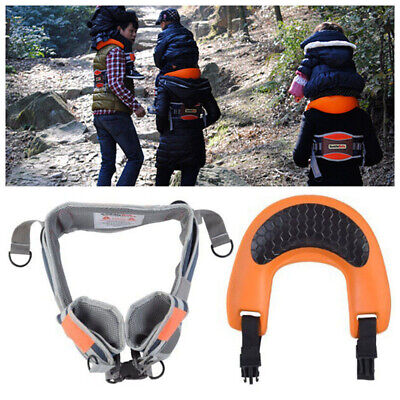 Hands-Free Shoulder Carrier with Ankle Straps Cushioned Nylon Child Strap Rider