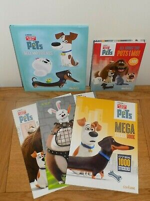 Secret Life Of Pets Book Bundle - Colouring Book, Sticker Book, Story Books NEW