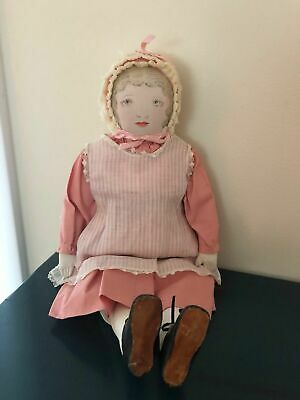 """Polly Heckewelder Doll Antique Moravian from Pennsylvania 18"""" Final Price"""