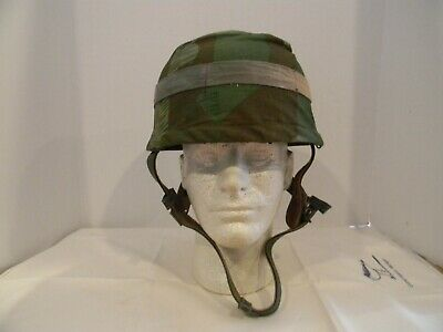 "Prop Wwii German Paratrooper Helmet With Camouflage Cover!!  ""band Of Brothers""!"