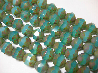 Czech Glass Twist Drop Glass Beads 6x12mm Apprx 25 bead loose strand U-Pick