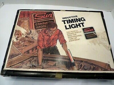 Vintage Sun Cp7501 Inductive Timing Light & Tune Up Manual In Box
