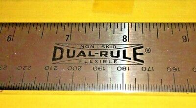 """15"""" FLEXIBLE STAINLESS STEEL DUAL RULE RULER NO SKID by AMERICAN RULER CORP USA"""