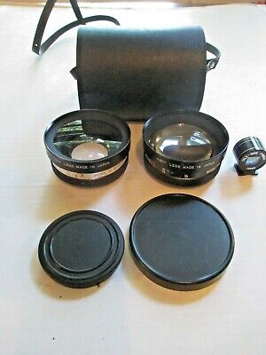 Yashica Yashikor Aux. Telephoto & Wide Angle 1:4 With Finder And Case Y611 Lens
