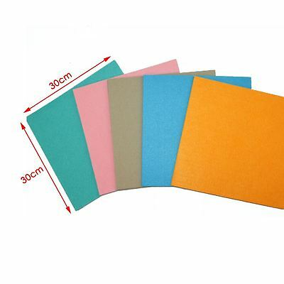 10 Sheets (30x30cm) Pastel Colour Wool Mix Felt Craft Soft Polyester Easy To Cut